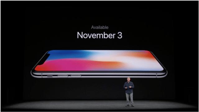 iPhoneXの販売日