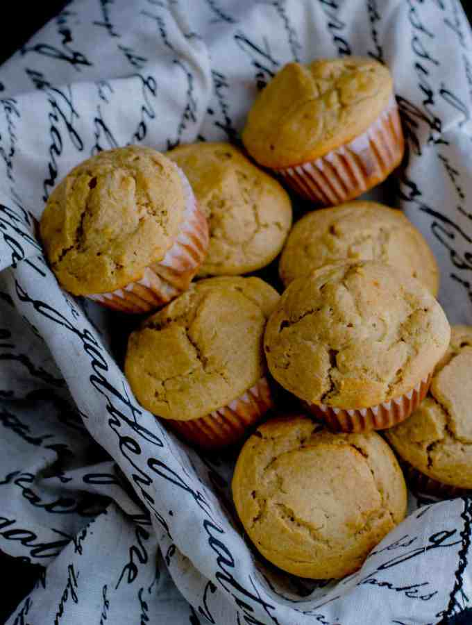 These delicious whole wheat banana muffins makes for the perfect nut free and healthy snack for your kid's school lunch.