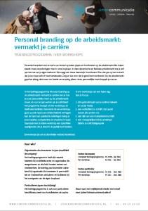 Personal branding op de arbeidsmarkt: vermarkt je carrière