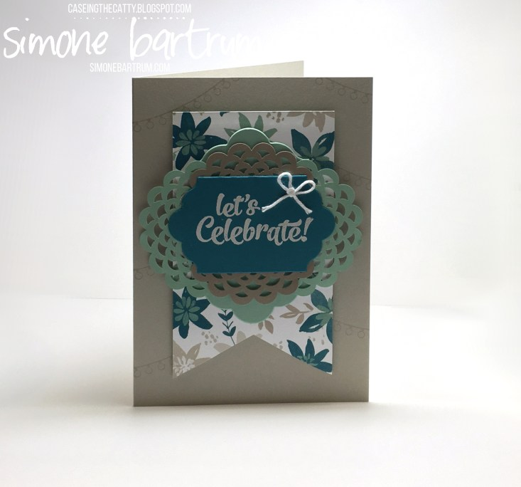 CCTC81: Confetti Celebration stamp set meets Blooms & Bliss designer series paper. Check it out at www.simonebartrum.com (June 2016).