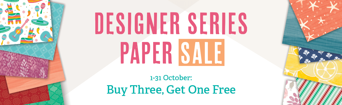 Buy 3 get 1 free Designer Series Paper - during October at www.simonebartrum.com