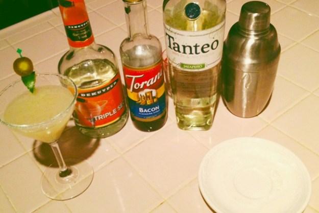 Tanteo Jalapeño Bacon Margarita
