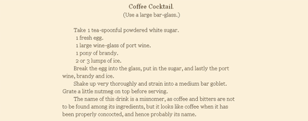 coffee cocktail recipe