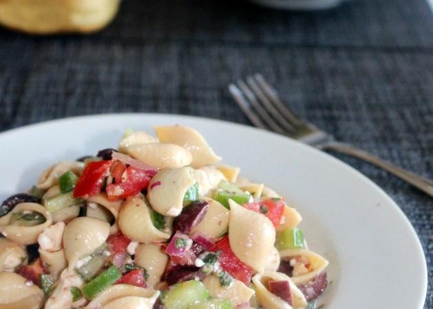 Greek Pasta Salad Simpleandsavory.com