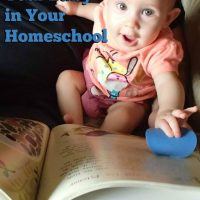 How to Involve Your Baby in Your Homeschool