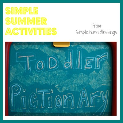 Simple Summer Activities_Toddler Pictionary