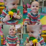 First time trying strawberries I think he likes them!!! firstfoods