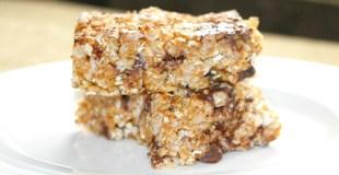No-Bake Almond Granola Bars