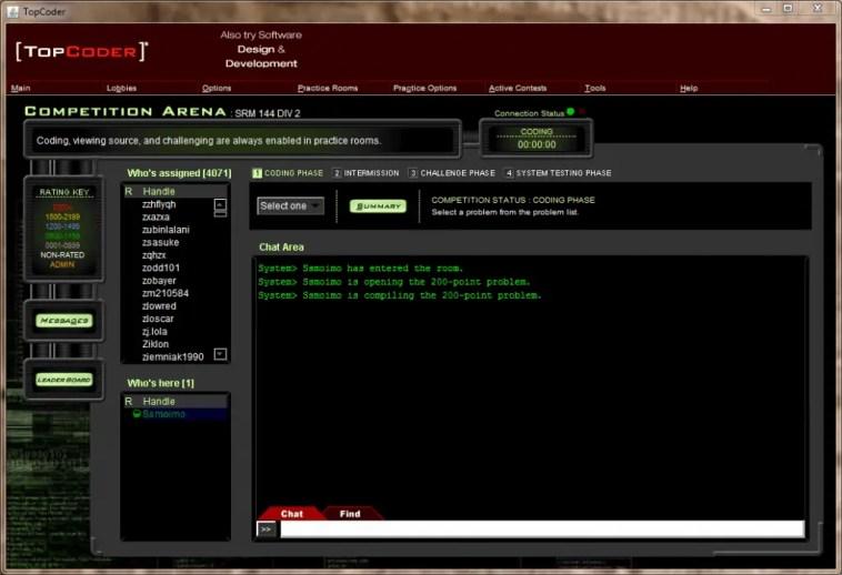 topcoder screenshot