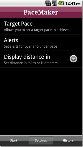 settings thumb Introducing PaceMaker for Android
