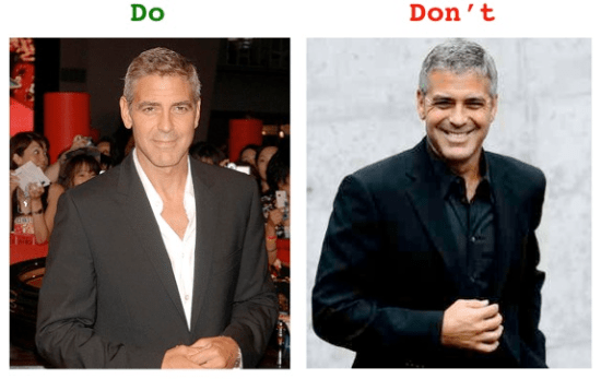clooney black suit Dos and donts: black