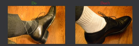 white socks do dont1 Dos & Donts: white socks