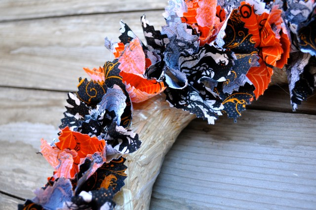 Fabric Halloween Wreath Inside Row
