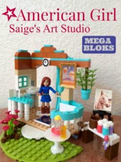 American Girl Saige's Art Studio Mega Bloks - Simple Sojourns