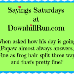 Sayings Saturdays – 10/3/2015