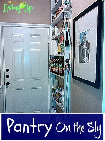 Tutorial on building shelves for small wall space behind doors.