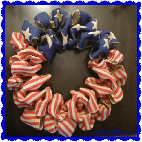 4th of July patriotic wreath 2