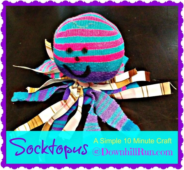 socktopus A 10 minute craft