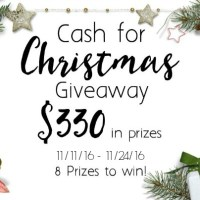 2016 Cash for Christmas Giveaway – Need a little extra Christmas Cash?