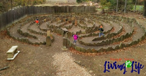 3 ideas for outdoor play in cool weather. Find a local outdoor maze.