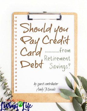 Tips about whether or not to pay credit card debit with savings.