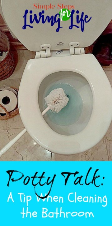 This is a simple tip while cleaning a bathroom.