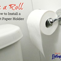 On a Roll - How to Install a Toilet Paper Holder