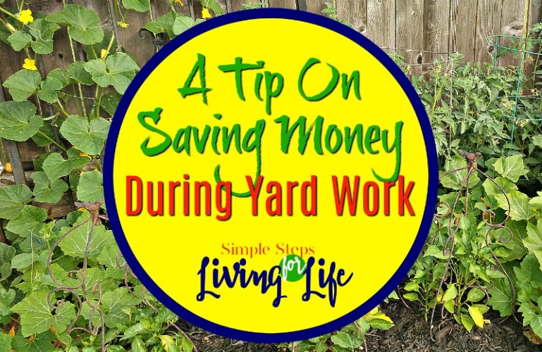 Tip On Saving Money During Yard Work