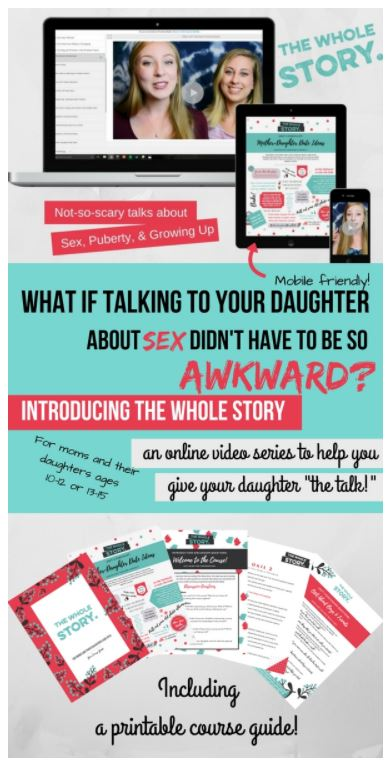 Check out this resource to help talk with your daughter about puberty, sex and growing up.
