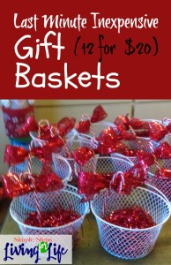 How to make 12 gift basket for $10.