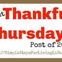 Last Thankful Thursdays Post of 2018