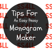 Tips For An Easy Peasy Monogram Maker