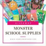 Monster School Supplies Giveaway Ends 11/30/2019