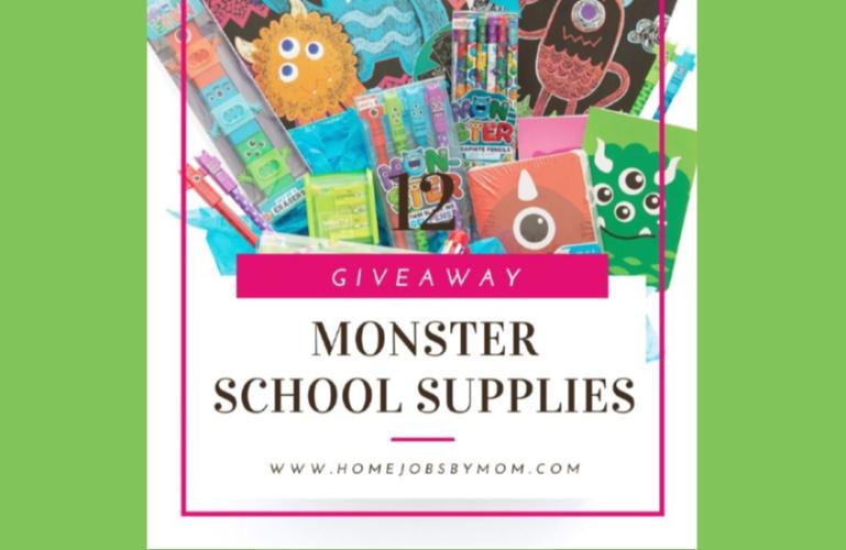 Monster School Supplies Giveaway Ends 11/30/2019