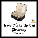 Travel Make Up Bag Giveaway Ends 11/25