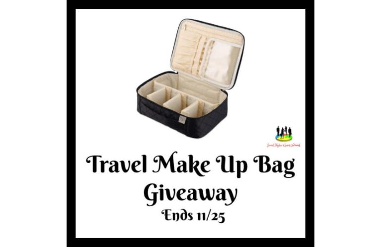 Travel Make Up Bag Giveaway Ends 11/25