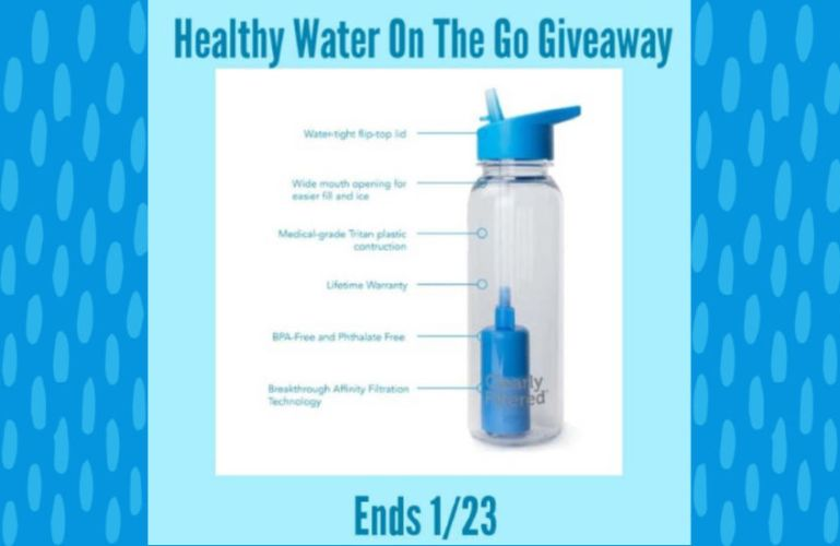 Healthy Water on the Go Giveaway ends 1/23/20