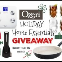 The Ozeri Holiday Home Essentials Giveaway ends 12/31/19