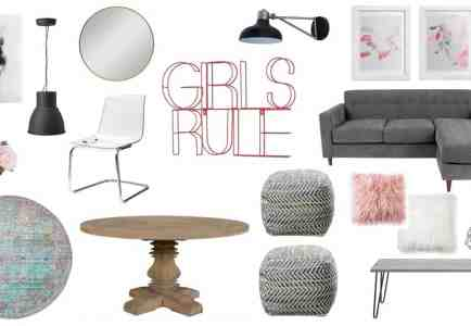 Get The Look: A Fun, Girly Living Space Design