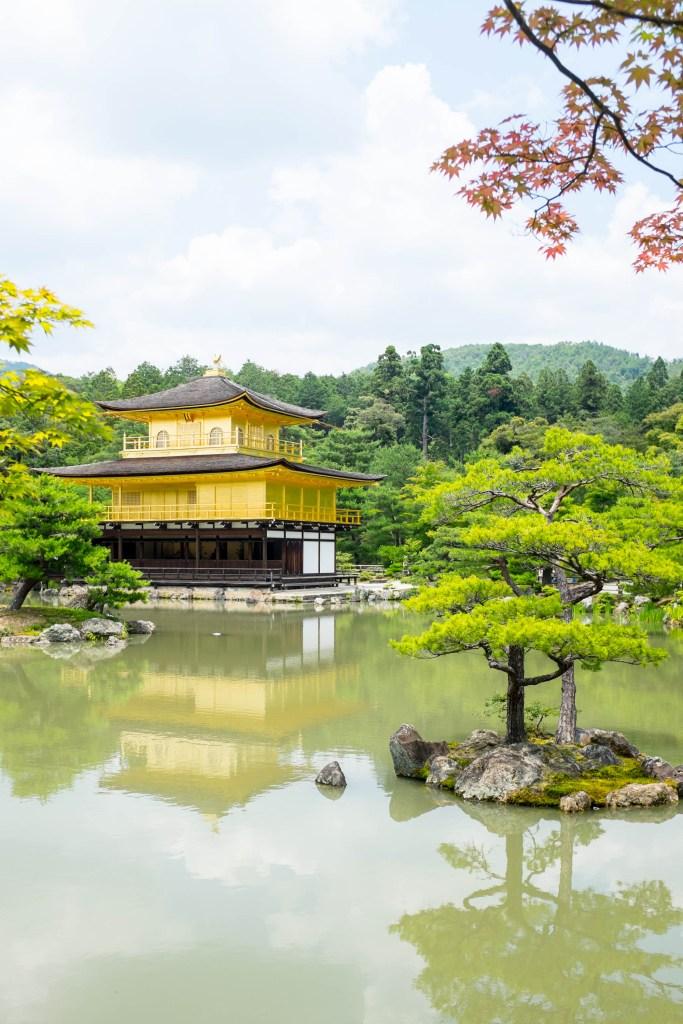 Golden Pavilion, also known as Kinkakuji, in Kyoto Japan