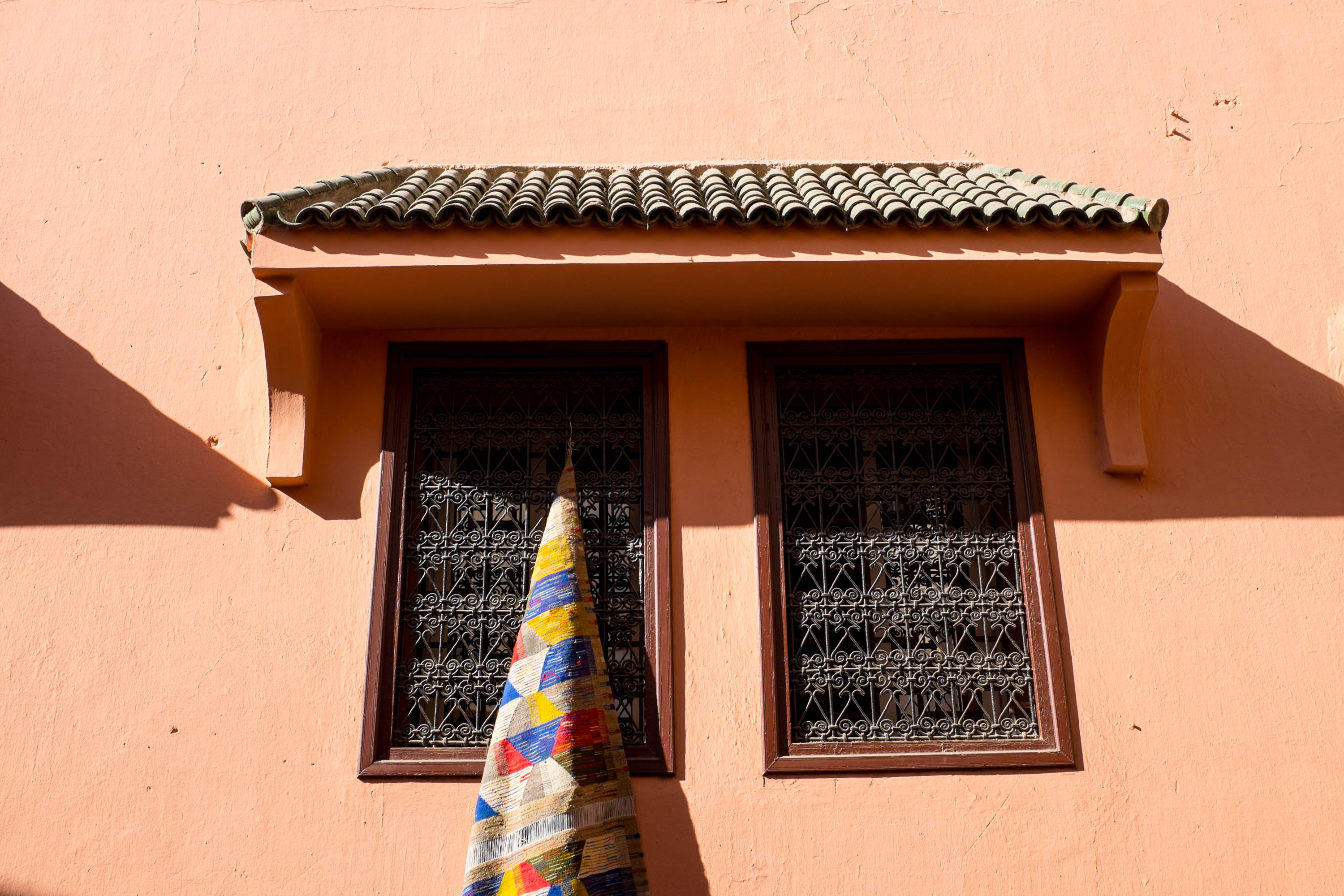 Beautiful rug on window     Marrakech: a quick guide