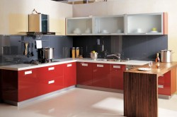 Small Of Red Kitchen Cabinets
