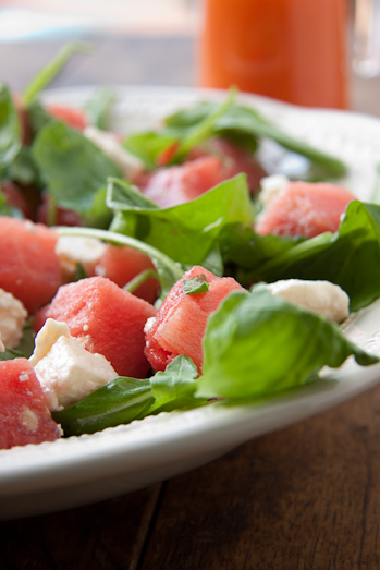 Watermelon, Feta & Rocket salad