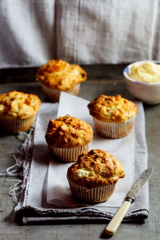 Pumpkin-&-Goat's-cheese-muffins