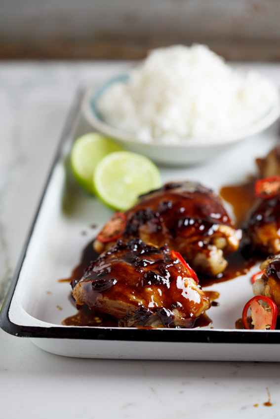 Sweet chilli and soy baked chicken