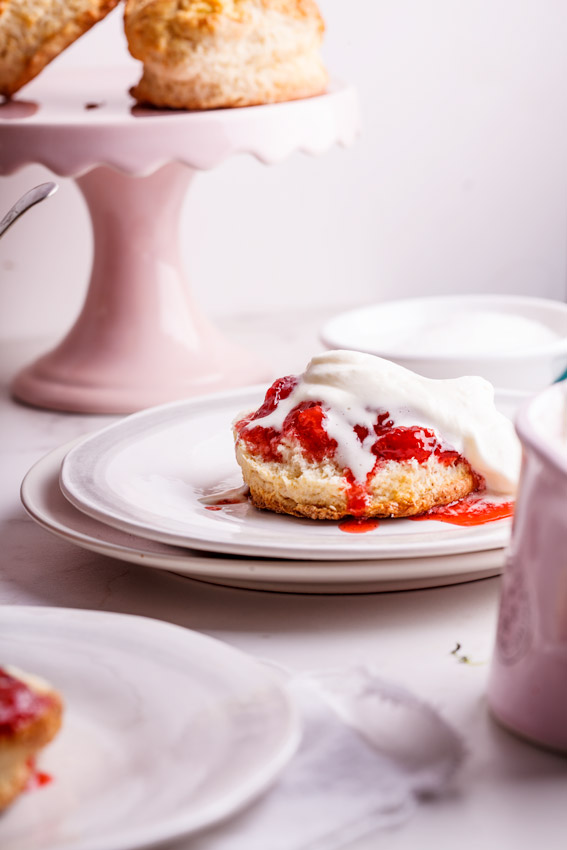 Buttermilk scones with easy strawberry-vanilla jam