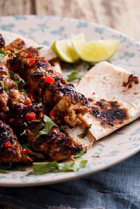 Chicken korma kebabs