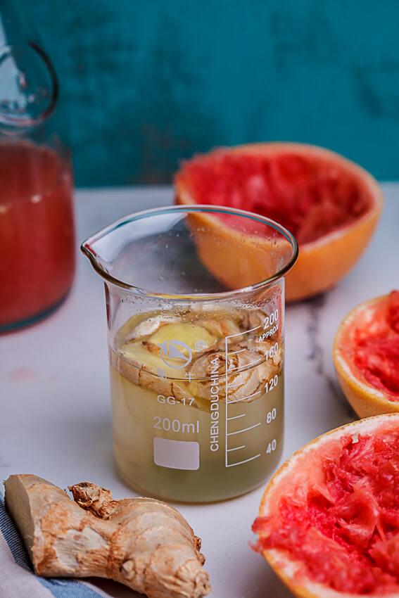 Fresh ginger syrup