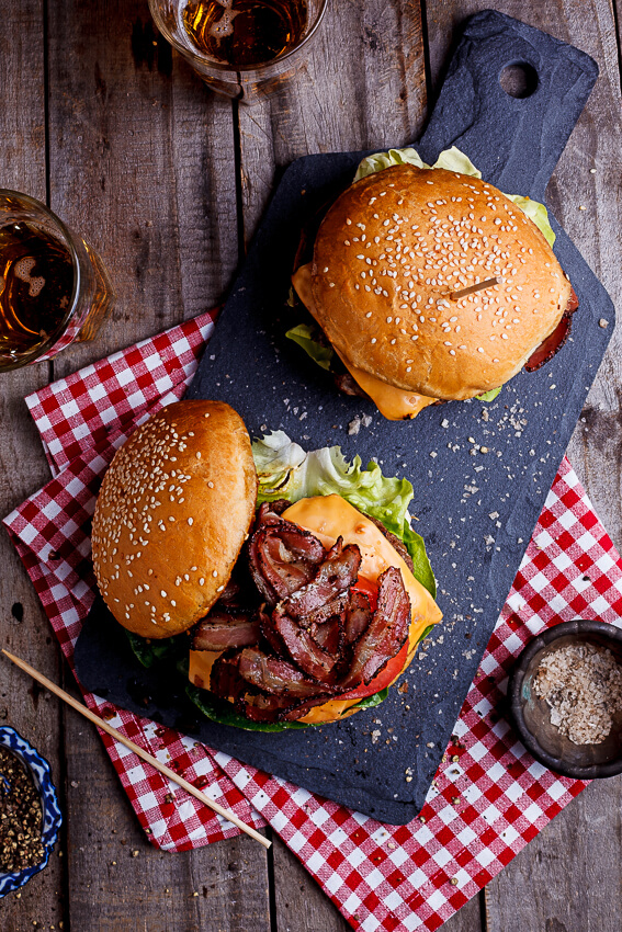 Classic bacon cheeseburgers
