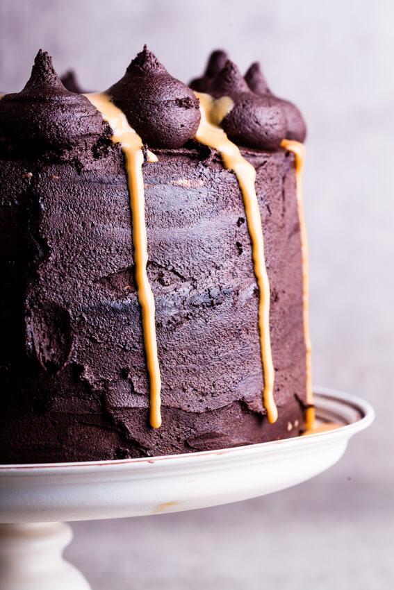 Chocolate dulce de leche cake